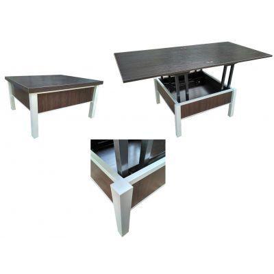 Стол трансформер Гамма алюминий, ширина 80см