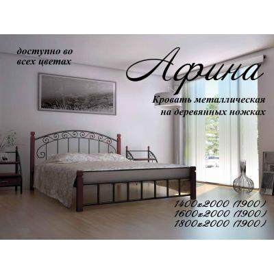 """Кровать """"Афина"""" на деревянных ногах Металл-Дизайн 140х190"""