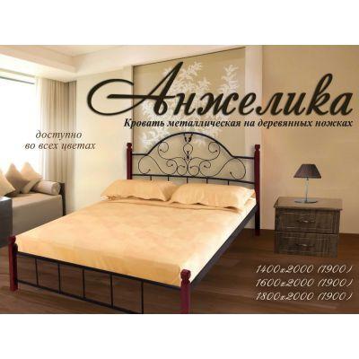 """Кровать """"Анжелика"""" на деревянных ногах Металл-Дизайн 140х190"""