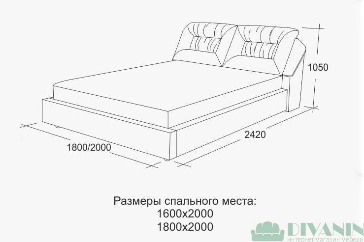 Кровать Дуэт Юдин