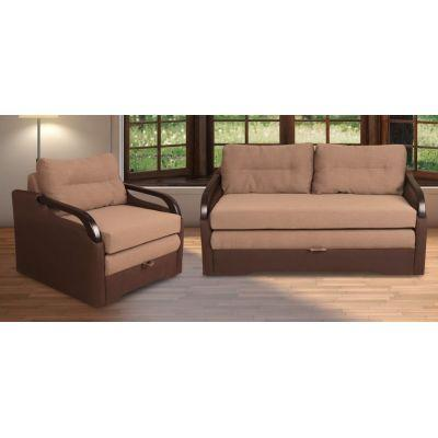 Комплект диван Прага +2 кресла раскладных Веста