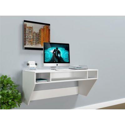 Навесной компьютерный стол ZEUS AirTable-II WT Mini Escado