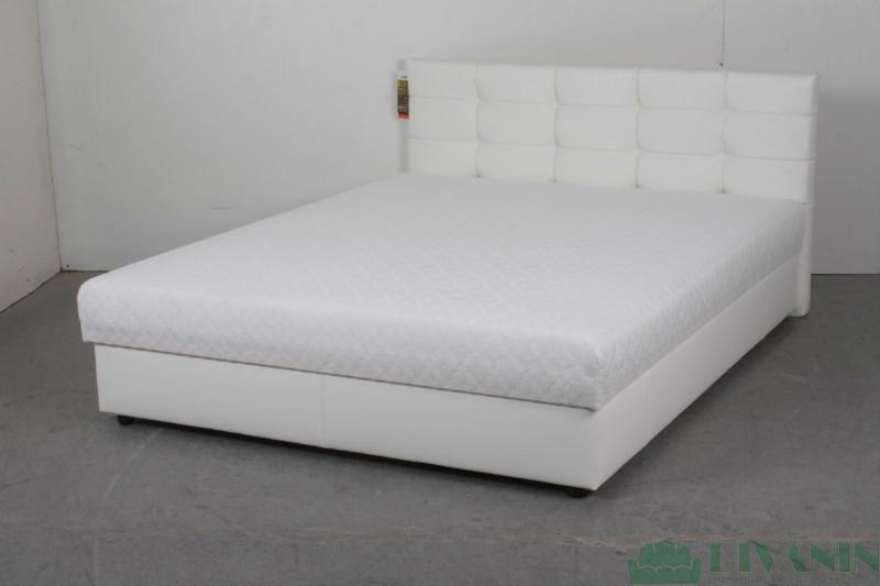 Кровать Ариэль 1.6 ADK Sleep Gallery Белый кож. зам.