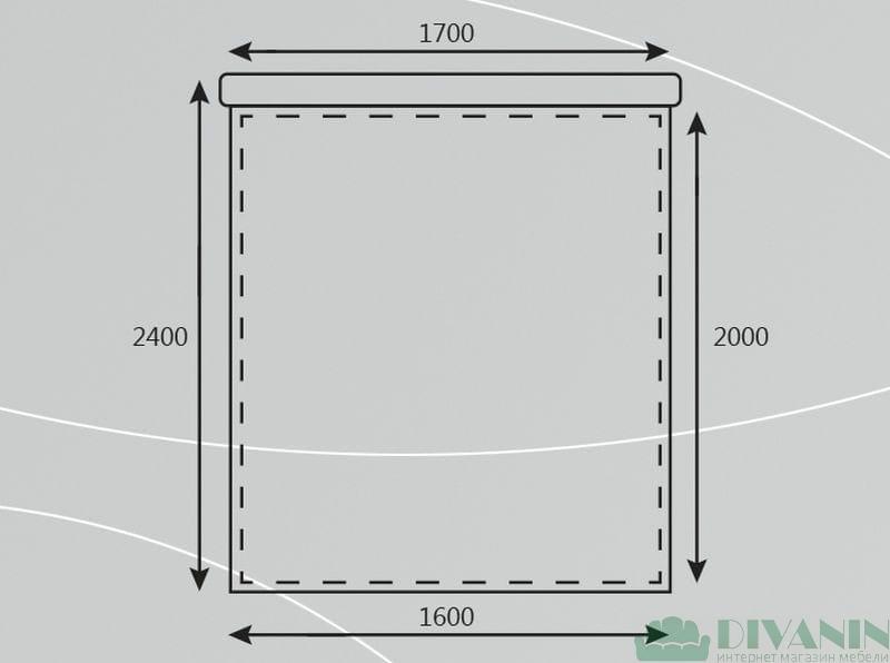 Кровать Лиза 0.9 Мебельер