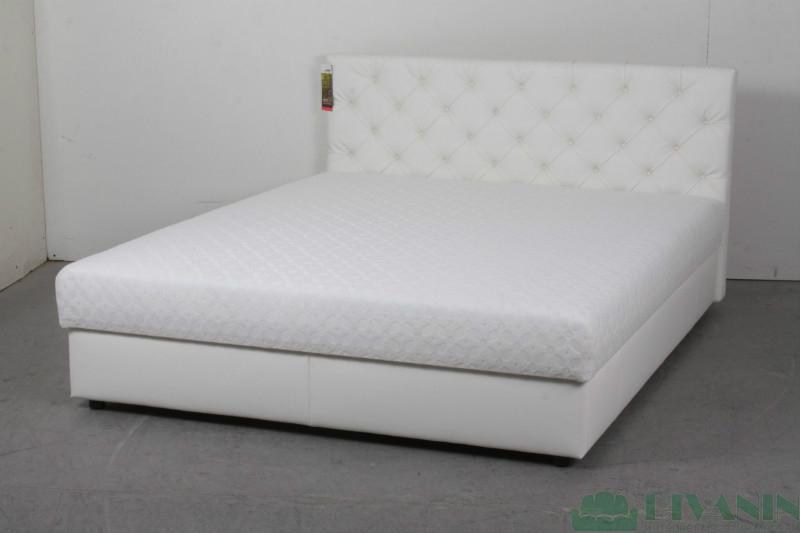 Кровать Венесуэла 1.4 ADK Sleep Gallery белый кож.зам
