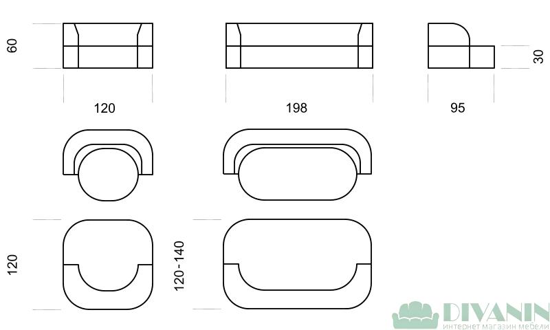 Диван Каспер 1.2 Lado