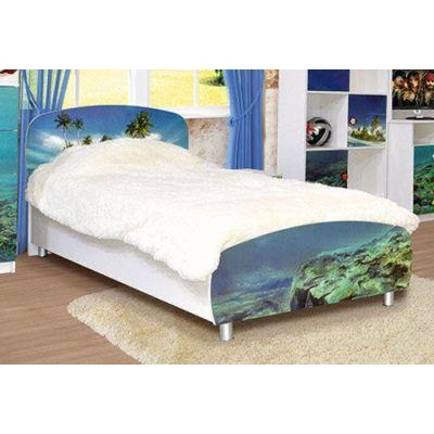 Кровать 1-сп «Дельфины» без матраса и каркаса