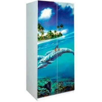 Шкаф 2Д «Дельфины»