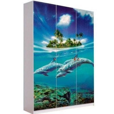 Шкаф 3Д «Дельфины»