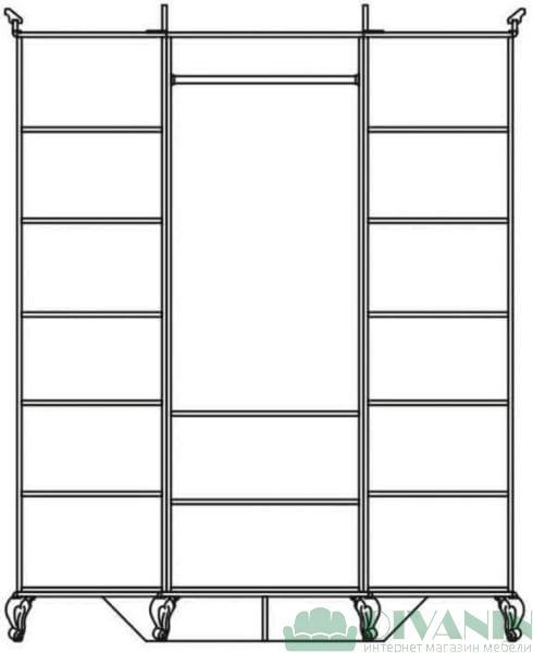Шкаф 3Д «Ливорно»