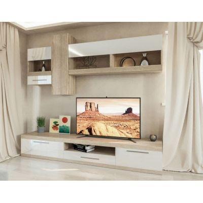 Гостиная «Пальмира» дуб сонома | белый лак