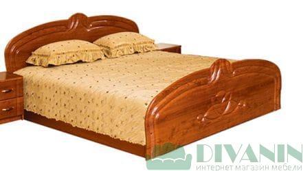 Кровать 2-сп «Антонина глянец» без матраса и каркаса
