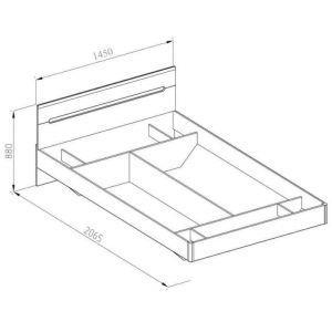 Кровать 2-сп «Бьянко» (1.4) без матраса и каркаса