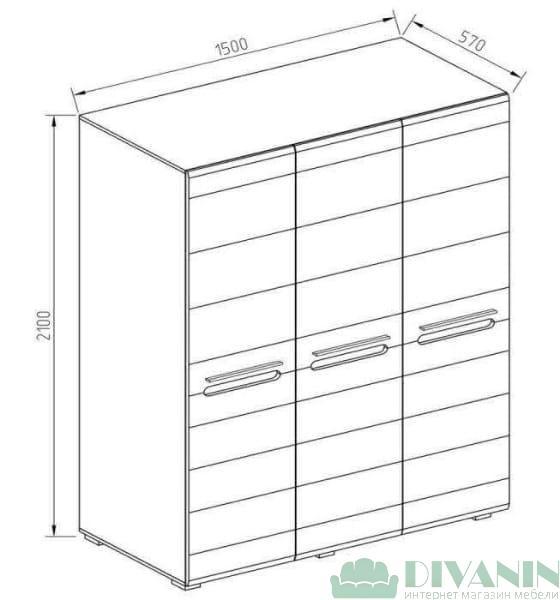 Шкаф 3Д «Бьянко»
