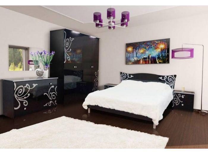 """Спальня """"Фелиция Нова"""" (черный лак) Свит меблив"""
