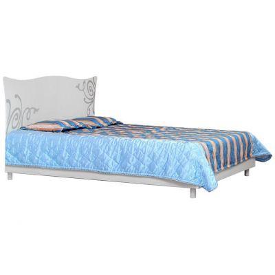 Кровать 2-сп «Фелиция Нова белый лак» без матраса и каркаса