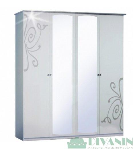 Шкаф 4ДЗ «Фелиция Нова белый лак»