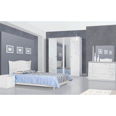 Спальня 4ДЗ «Фелиция Нова белый лак»