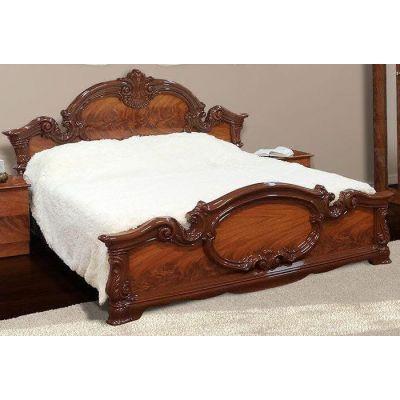 Кровать 2-сп «Империя орех» без матраса и каркаса