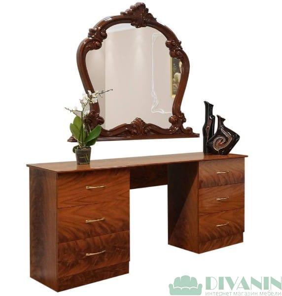 Туалетный столик с зеркалом «Империя орех»