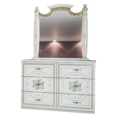 Комод с зеркалом «Жасмин белый»