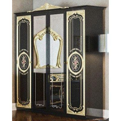 Шкаф 4Д «Кармен Нова Люкс черное золото»