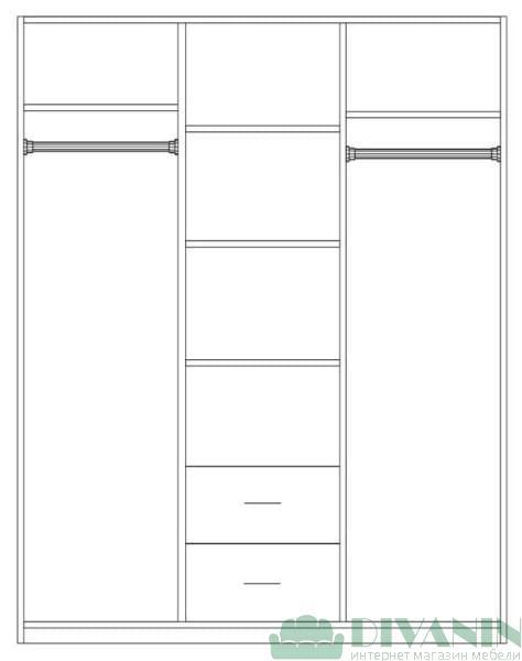 Шкаф 3-д «Круиз»