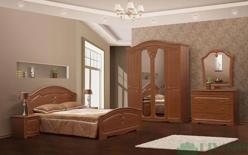 Спальня 4Д «Луиза дуб золотой»