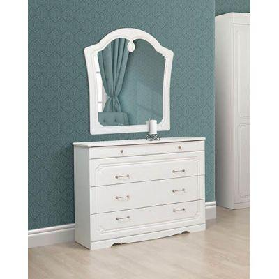 Комод с зеркалом «Луиза белое дерево»