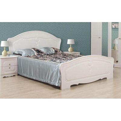 Кровать 2-сп «Луиза белое дерево» без матраса и каркаса