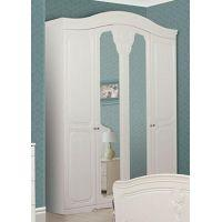 Шкаф 4Д «Луиза белое дерево»