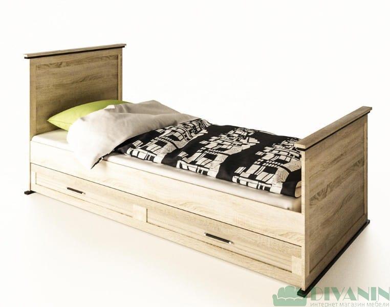 Кровать 1-сп «Палермо» с 1 ящиком | без матраса и каркаса